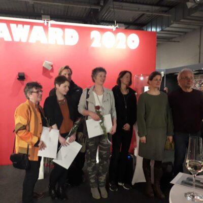 """Miniaturen Kunstpreis 2020 - meine Arbeit """"Haus am See"""" erhielt den 3. Preis und den Publikumspreis. Foto ©: R. Rostalski"""